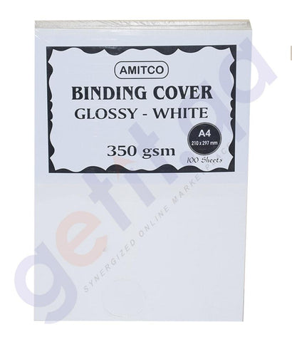 BINDING & LAMINATION - WHITE GLOSSY A3 350GSM FOR BOOK BINDING BY AMITCO