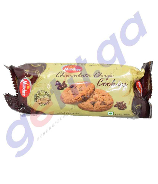 BISCUITS - MUNCHEE CHOCOLATE CHIP COOKIES - 100GM