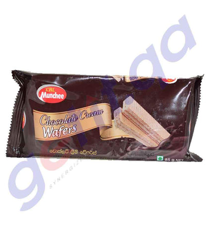 BISCUITS - MUNCHEE CHOCOLATE  CREAM WAFERS -  85GM