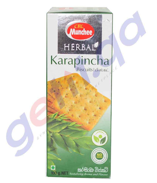 BISCUITS - MUNCHEE HERBAL KARAPINCHA BISCUIT - 100 GM