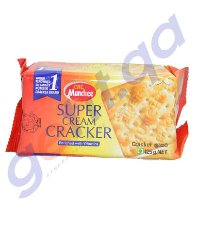 BISCUITS - MUNCHEE SUPER CREAM CRACKERS - 125GM