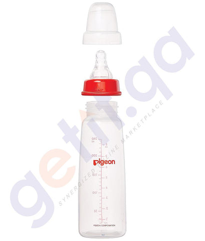 BREAST PUMP - PIGEON SLIM NECK FEEDING BOTTLE CLEAR 240ML - A26006/PA26006