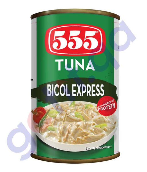 CANNED FISH - 555 TUNA - BICOL EXPRESS  - 155GM