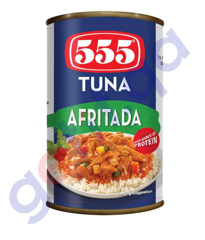 CANNED FOOD - 555 TUNA-AFRITADA 155GM