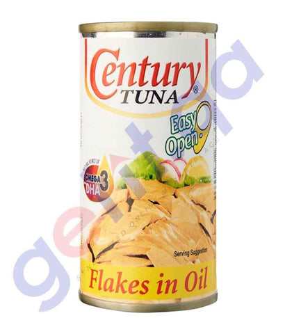 CANNED FOOD - CENTURY TUNA FLAKES IN OIL - 155GM