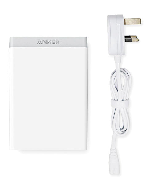Charger - Anker 60w 6 Port Desktop Charger Uk A2123K21 - White