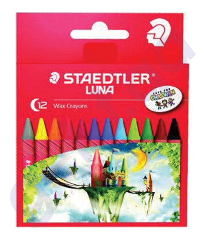 BUY STAEDTLER LUNA WAX CRAYON-12 COLOR - ST-2200-LC12 ONLINE IN QATAR
