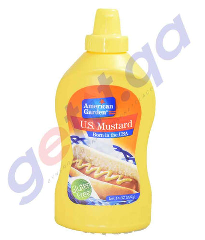 COOKING SAUCES - AMERICAN GARDEN U.S. MUSTARD - 397GM