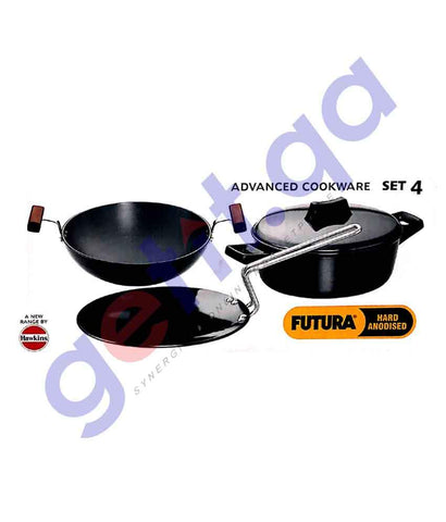 Cookware - HAWKINS FUTURA 4 PIECES KADAI SET