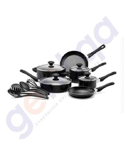 Cookware - PRESTIGE 15 PIECES COOKWARE REGULAR SET BLACK - PR20344