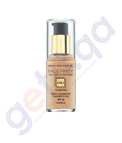 COSMETICS - MAX FACTOR FACEFINITY ALL DAY FLAWLESS 3 IN 1 FOUNDATION