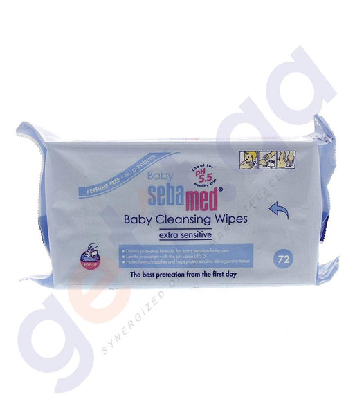 CREAM - SEBAMED BABY WET WIPES 72-WIPES