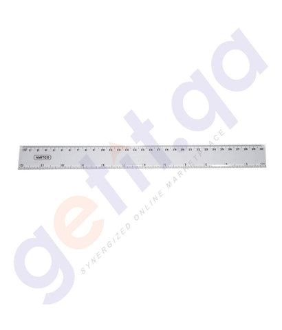 DESK ACCESORIES - RULER PLASTIC 30CM BY AMITCO