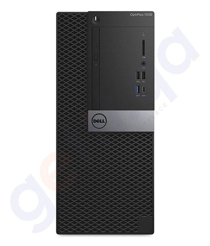 DESKTOPS - Dell Optiplex 7050 MT Desktop PC, Core I7-7700 4GB RAM- 1TB HDD - DOS