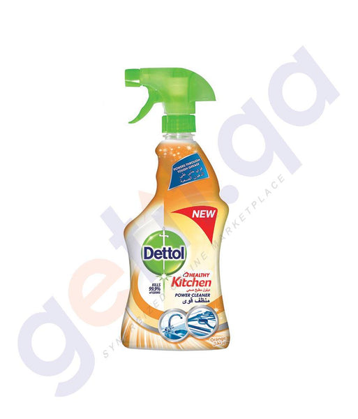 DISINFECTANTS - DETTOL HEALTHY KITCHEN POWER CLEANER TRIGGER SPRAY ORANGE 500ML