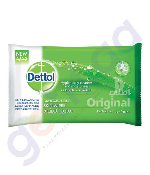DISINFECTANTS - DETTOL SKIN WIPES ORIGINAL 10PCS