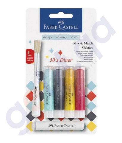 Drawing And Modelling Items - CRAYO GELATOS DINER 4PC BLISTER BY FABER CASTELL