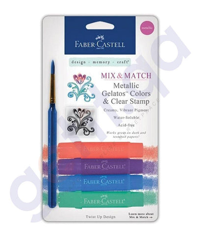 Drawing And Modelling Items - CRAYO GELATOS METALIC 4PC BLISTER BY FABER CASTELL