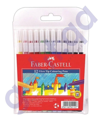 Drawing And Modelling Items - FELT TIPPEDPENS 12 COLOR BY FABER CASTELL