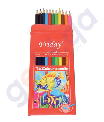 Drawing And Modelling Items - FRIDAY PENCIL  12 COLOR - CPFR-0012