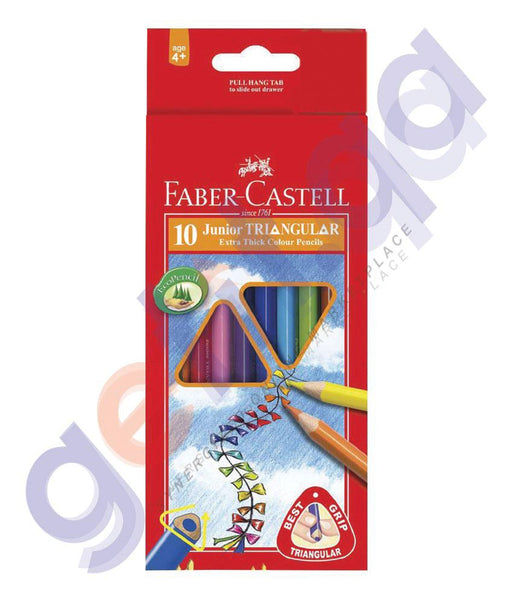 Drawing And Modelling Items - JUNIOR TRIANGULAR COLOR PENCIL BY FABER CASTELL