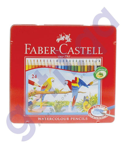 Drawing And Modelling Items - WATER COLOR PENCIL TIN  BY FABER CASTELL