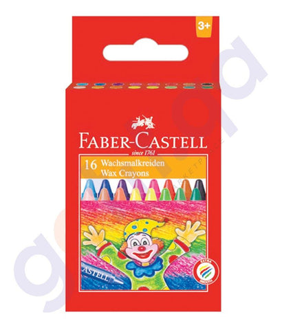 Drawing And Modelling Items - WAX CRAYON REGULAR 75MM 16COLOR  BY FABER CASTELL
