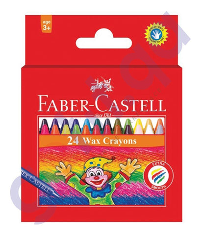Drawing And Modelling Items - WAX CRAYON REGULAR 75MM 24COLOR FCIN120057 BY FABER CASTELL