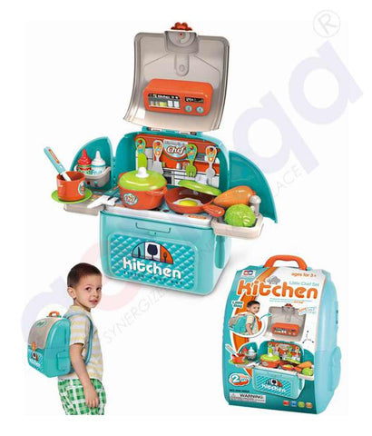 Buy 2-in-1 Little Luggage Kitchen Set 008-966A Doha Qatar