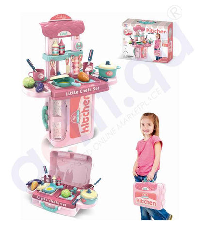 Buy 3-in-1 Little Kitchen Play Set 008-971A in Doha Qatar