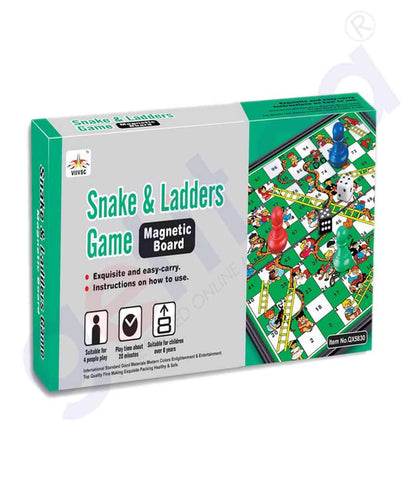 Buy QX Snake & Ladders Game Mag. Board Online Doha Qatar