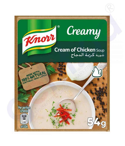 Buy Knorr Soup 54g Cream of Chicken 3+1 FREE in Doha Qatar