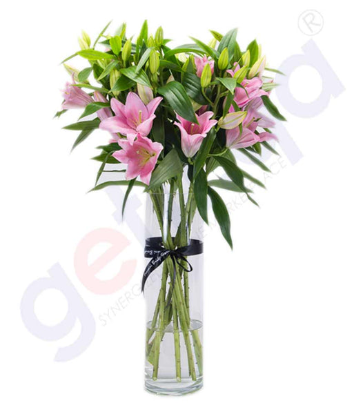 Buy Fleur de Lys in Pink Bouquet Price Online in Doha Qatar
