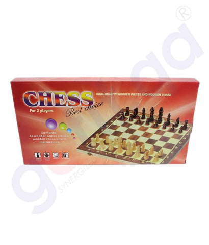 Buy 2-in-1 Wooden Chess Set 528A Price Online Doha Qatar