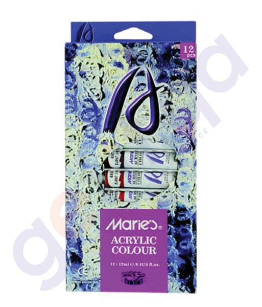 BUY MARIE'S ACRYLIC COLOR SET 12MLX12COLOR - MS-812C IN QATAR