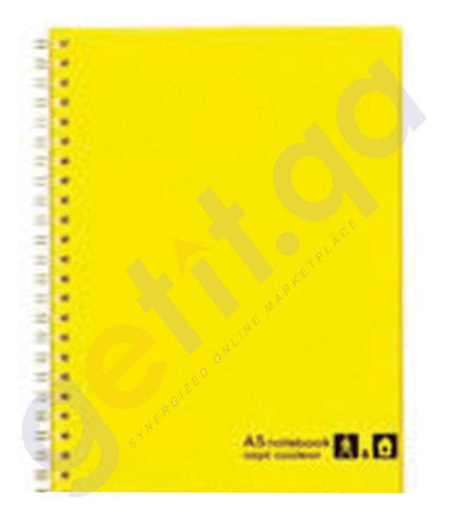 BUY MARUMAN SEPTCOULEUR NOTEBOOK A5 80SHT YELLOW - MM-N572-04 ONLINE IN QATAR
