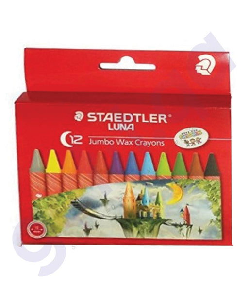 BUY STAEDTLER LUNA JUMBO WAX CRAYON-12COLOR-ST-2210-LC12 ONLINE IN QATAR