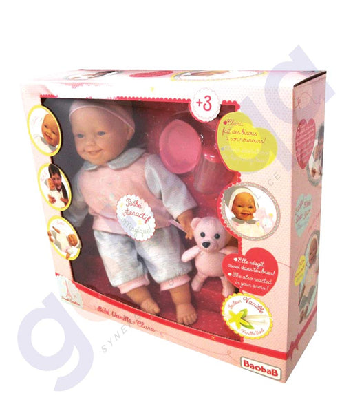 BUY BAOBAB BEBE VANILLE INTERACTIVE DOLL WITH ACCESSORIES-113511 IN QATAR