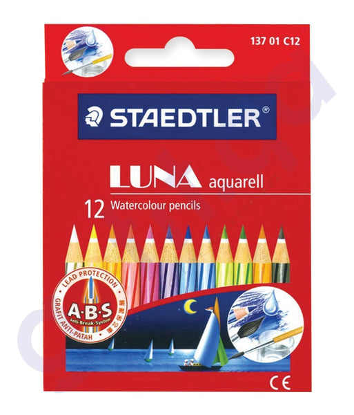 BUY STAEDTLER LUNA COLOURING PENCILS 12COLOR - ST-136-LC12 IN QATAR