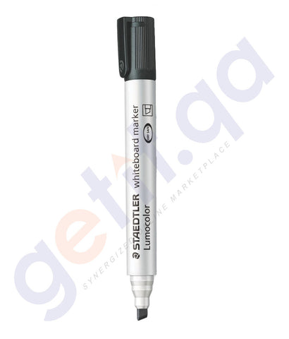 BUY STAEDTLER WHITE BOARD MARKER CHISEL TIP BLACK IN QATAR