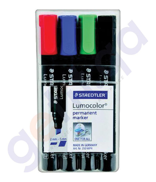 BUY STAEDTLER LUMO COLOR OHP PERMAN. PAK=4COLOR - ST-317-WP4-M IN QATAR