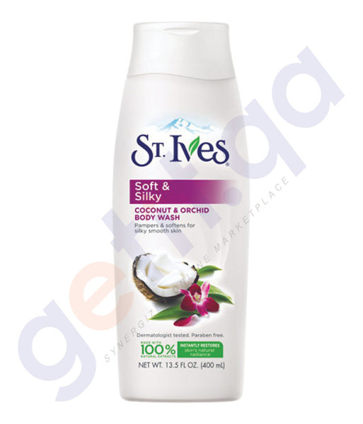 BUY ST.IVES 400ML SOFT & SILKYCOCONT & ORCHID BODY WASH IN QATAR