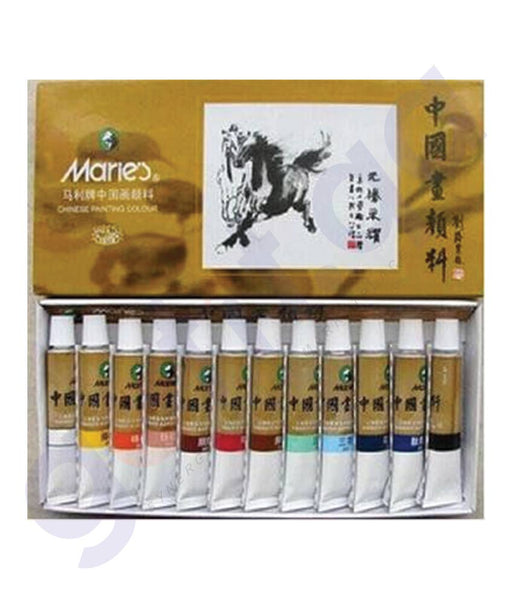 BUY MARIE'S WATER COLOR SET 12MLX12COLOR - MS-E1336C IN QATAR