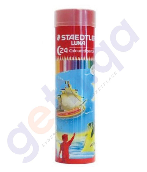 BUY STAEDTLER LUNA COL PENCIL CYLINDR 24COLOR - ST-136-MC24 IN QATAR