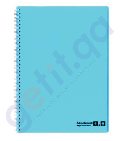 BUY MARUMAN SEPTCOL NOTEBOOK A4 80SHT L.BLUE - MM-N570-52 ONLINE IN QATAR