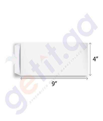 ENVELOPE - HISPAPEL ENVELOPE WHITE 9X4 SIZE  CAPITAL -  50 PIECE