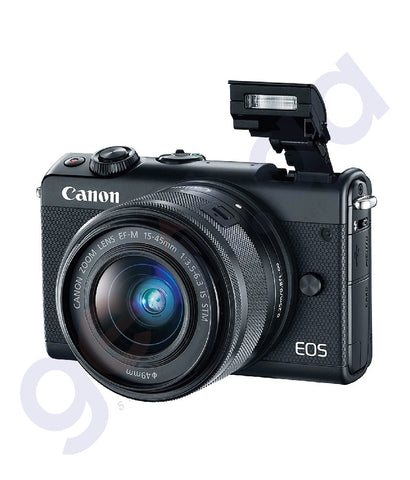 BUY CANON EOS M100 M15-45 BLACK DSLR ONLINE IN DOHA QATAR