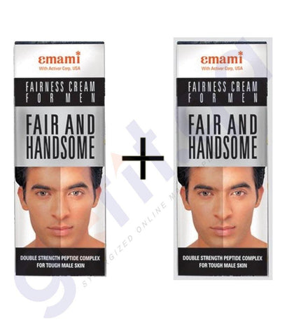 Facial Care - 2 X EMAMI FAIR AND HANDSOME ADVANCED WHITENING CREAM 25GM