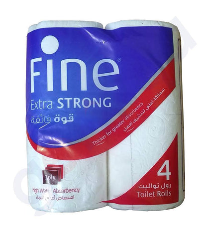 GETIT.QA | Buy Fine Toilet Roll 150Sheets Extra Strong 3Ply Doha Qatar