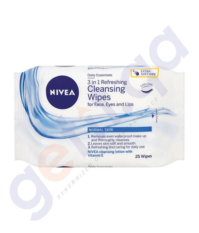 Facial Care - NIVEA REFRESHING CLEANSING WIPES 25 NOS 81121